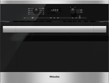 M6160TCSS Miele ContourLine EasyControl Microwave - Black with Stainless Trim -OPEN BOX