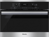 M6260TCSS Miele PureLine EasyControl Microwave - Black with Stainless Trim -OPEN BOX