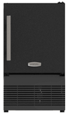 "MA14CRSCXB Marvel ADA 14"" Compact Crescent Ice Maker with Solid Smooth Black Door and Reversible Hinge - Black"