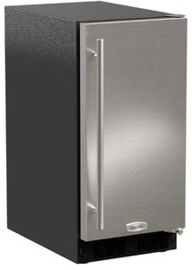 "MA15CRS1XS Marvel 15"" ADA Height Crescent Ice Maker - 25 lbs Capacity - Reversible Hinge - Stainless Steel"