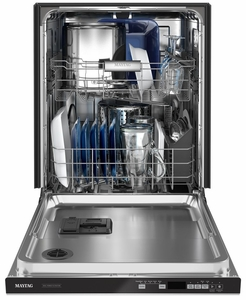 MDB7959SKZ Maytag Top Control Dishwasher with Dual Power Filtration - Fingerprint Resistant Stainless Steel
