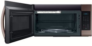 """ME19R7041FT Samsung 30"""" 1.9 cu. ft. Over the Range Microwave with Sensor Cook and 400 CFM - Fingerprint Resistant Tuscan Stainless Steel"""