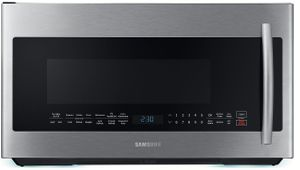 "ME21K7010DS Samsung 30"" 2.1 cu.ft. Over The Range Microwave with Sensor Cooking and 10 Power Levels - Finger Print Resistant Stainless Steel"