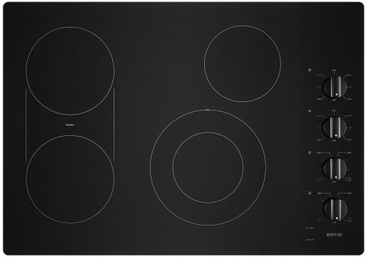 "MEC8830HB Maytag 30"" Ceramic Glass Electric Cooktop with Quick Preheat and Precise Cooking - Black"