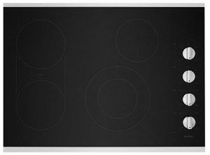 "MEC8830HS Maytag 30"" Ceramic Glass Electric Cooktop with Quick Preheat and Precise Cooking - Black with Stainless Steel Trim"