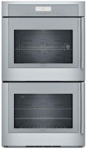"""MED302LWS Thermador 30"""" Masterpiece Double Built-In Oven - Left Hinge - Stainless Steel with Masterpiece Series Handles"""
