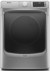 """MED6630HC Maytag 27"""" 7.3 cu. ft.  Electric Dryer with Steam-Enhanced Dryer and Advanced Moisture Sensing  - Metallic Slate"""