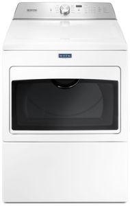 "MEDB765FW Maytag 27"" 7.0 cu. ft. Front Load Large Capacity Electric Dryer with Sanitize Cycle and Intellidry Sensor - White"