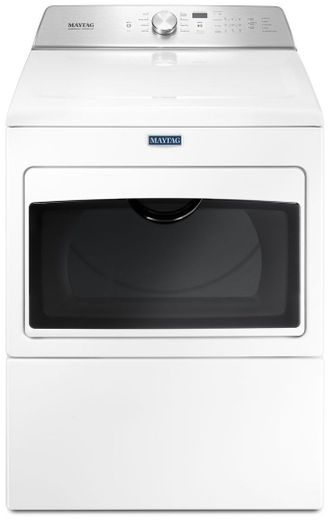"""MEDB765FW Maytag 29"""" 7.0 cu. ft. Front Load Large Capacity Electric Dryer with Sanitize Cycle and Intellidry Sensor - White"""