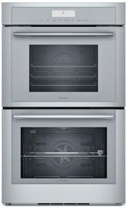 """MEDS302WS Thermador 30"""" Masterpiece Double Built-In Oven with Steam/Convection Cooking  - Stainless Steel with Masterpiece Series Handles"""