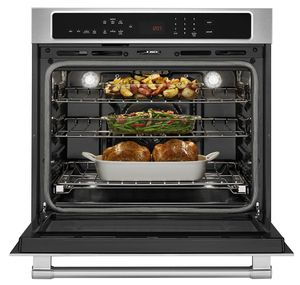 """MEW9530FZ Maytag 30"""" 5.0 cu. ft. Capacity Electric Wall Oven with Extra Large Oven Window and Temperature-Sensor Baking - Fingerprint Resistant Stainless Steel"""