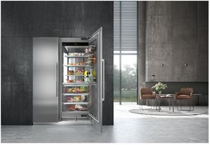 "MF2451 Liebherr 24"" Monolith Built-In Counter Depth Column All Freezer with SuperFrost and Super Quiet - Reversible Hinge - Custom Panel"