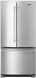 "MFF2258FEZ Maytag 33"" 22 cu. ft. French Door Refrigerator with BrightSeries LED Lighting and Ice Maker - Stainless Steel"