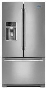"MFT2772HEZ Maytag 36"" 27 cu. ft. Free Standing French Door Refrigerator with PowerCold and Factory Installed Ice Maker - Fingerprint Resistant Stainless Steel"