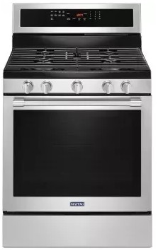 """MGR8800FZ 30"""" Maytag 5.8 cu. ft. Gas Range with True Convection and Power Preheat - Fingerprint Resistant Stainless Steel"""