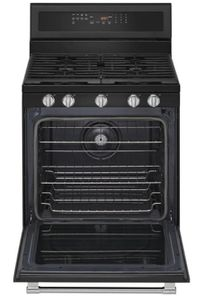 "MGR8800HK Maytag 30"" 5.8 cu. ft. Free Standing Gas Range with True Convection and Power Preheat - Cast Iron Black"