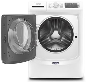 """MHW5630HW Maytag 27"""" 4.5 Cu. Ft. Front Load Washer with Internal Heater and Extra Power Button - White"""
