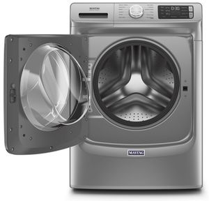 "MHW6630HC Maytag 27"" 4.8 Cu. Ft. Front Load Washer with Extra Power Button and Advanced Vibration Control - Metallic Slate"