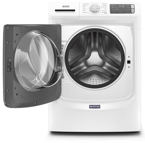 """MHW6630HW Maytag 27"""" 4.8 Cu. Ft. Front Load Washer with Extra Power Button and Advanced Vibration Control - White"""