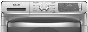 "MHW8630HC Maytag 27"" 5.0 Cu. Ft. Front Load Washer with Clean Washer Cycle and Fresh Hold Option - Slate"