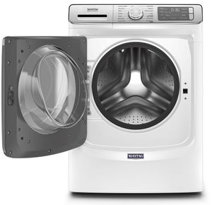 """MHW8630HW Maytag 27"""" 5.0 Cu. Ft. Front Load Washer with Clean Washer Cycle and Fresh Hold Option - White"""