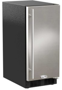 """ML15CRS1XS Marvel 15"""" Crescent Ice Maker - 25 lbs Capacity - Reversible Hinge - Stainless Steel"""
