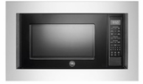 "MO30STANE Bertazzoni Professional Series 24"" Microwave Oven with 10 Power Levels and Child Lock - Black"