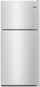 "MRT118FFFM Maytag 30"" 18 cu. ft. Top Freezer Refrigerator with Bright Series LED and Extra-Deep Door Bins - Monochromatic Stainless Steel"