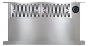 """MRV36ERS Dacor 36"""" Contemporary Raised Vent Down Draft For Range with Infinite Blower Speed Control and 15"""" High Intake - Silver Stainless Steel"""