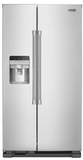"MSS25C4MGZ Maytag 36"" 25 cu. ft. Side by Side Refrigerator with Exterior and Water Dispenser - Fingerprint Resistant Stainless Steel"