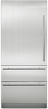 "MVBI7360WLSS Viking 36"" Counter Depth Bottom Freezer Refrigerator with BlueZone and Spillproof Plus - Stainless Steel"