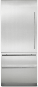 "MVBI7360WLSS Viking Virtuoso 36"" Counter Depth Bottom Freezer Refrigerator with BlueZone and Spillproof Plus - Stainless Steel"