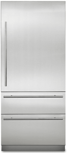 "MVBI7360WRSS Viking Virtuoso 36"" Counter Depth Bottom Freezer Refrigerator with BlueZone and Spillproof Plus - Stainless Steel"