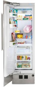 """MVFI7240WLSS Viking 24"""" Virtuoso 7 Series Built In Column Counter Depth All Freezer with Pro Chill Temperature Management System and Automatic Ice Maker - Left Hinge - Stainless Steel"""