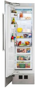 """MVRI7240WLSS Viking 24"""" Virtuoso 7 Series Built In Column Counter Depth All Refrigerator with BlueZone Fresh Preservation Technology and SpillProof Plus Shelves - Left Hinge - Stainless Steel"""