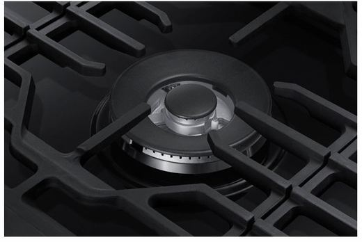 "NA30N6555TG Samsung 30"" Gas Cooktop with 5 Sealed Burners and Blue LED Illuminated Knobs - Fingerprint Resistant Black Stainless Steel"