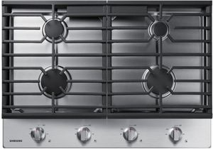 """NA30R5310FS Samsung 30"""" Gas Cooktop with Front Controls and Continuous Cast Iron Grates - Stainless Steel"""