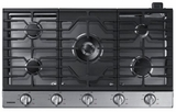 "NA36N6555TS Samsung 36"" Gas Cooktop with 5 Sealed Burners and Blue LED Illuminated Knobs - Stainless Steel"