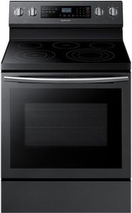 """NE59N6630SG Samsung 30"""" 5.9 Cu. Ft. Freestanding Electric Range with True Convection and Flexible Cooktop  - Fingerprint Resistant Black Stainless Steel"""