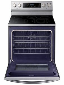 """NE59N6630SS Samsung 30"""" 5.9 Cu. Ft. Freestanding Electric Range with True Convection and Flexible Cooktop  - Stainless Steel"""