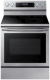 """NE59N6650SS Samsung 30"""" 5.9 Cu. Ft. Self-Cleaning Freestanding Electric Convection Range with Blue LED Illuminated Knobs and True Convection - Stainless Steel"""