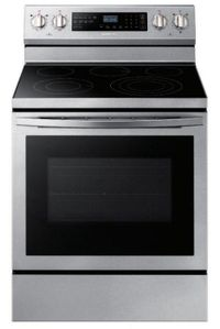 "NE59R6631SS Samsung 30"" 5.9 Cu. Ft. Freestanding Electric Convection Range with Self Clean and True Convection -  Stainless Steel"