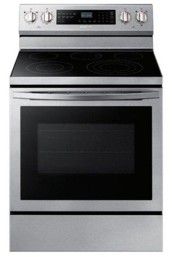 """NE59R6631SS Samsung 30"""" 5.9 Cu. Ft. Freestanding Electric Convection Range with Self Clean and True Convection -  Stainless Steel"""