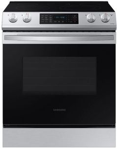 """NE63T8311SS Samsung 30"""" Front Control Wifi Enabled Slide-In Electric Range with Self Clean and Convection - Fingerprint Resistant Stainless Steel"""