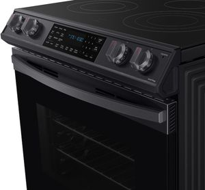 """NE63T8511SG Samsung 30"""" Front Control Wifi Enabled Slide-In Electric Range with Air Fry and Convection - Fingerprint Black Resistant Stainless Steel"""