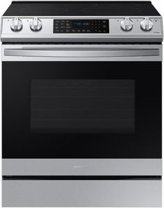 """NE63T8511SS Samsung 30"""" Front Control Wifi Enabled Slide-In Electric Range with Air Fry and Convection - Fingerprint Resistant Stainless Steel"""