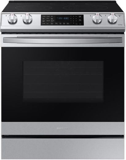 "NE63T8511SS Samsung 30"" Front Control Wifi Enabled Slide-In Electric Range with Air Fry and Convection - Fingerprint Resistant Stainless Steel"