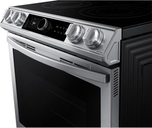 """NE63T8711SS Samsung 30"""" Front Control Wifi Enabled Slide-In Electric Range with Air Fry and Smart Dial - Fingerprint Resistant Stainless Steel"""