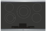 "NETP068SUC Bosch 30"" Benchmark Series 5 Element Electric Cooktop with AutoChef Technology and PreciseSelect - Black with Stainless Steel Trim"