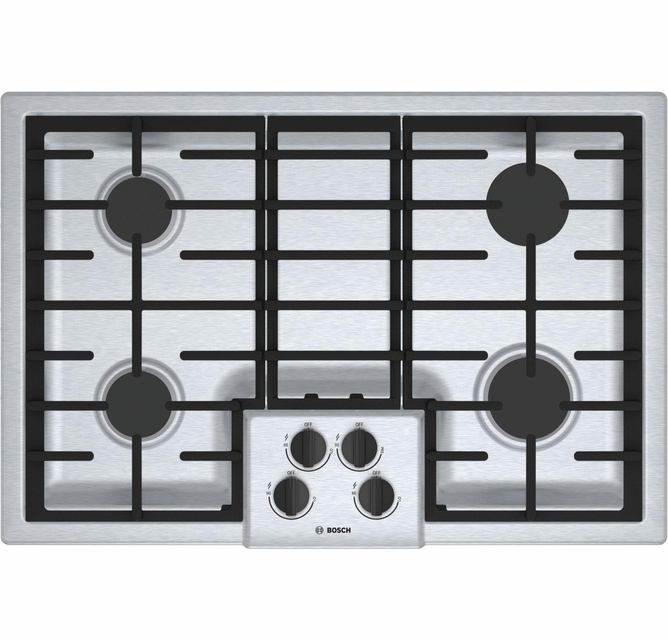 Black Side Ignition for Easy Access Automatic Ignition /& Rapid Safety Valve Delonghi NDG56N Built-In 4 Gas Cooktop